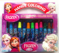 2017 frozen cartoon coloring book water color stationery