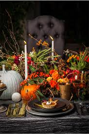 whimsical thanksgiving table setting ideas fall decorations