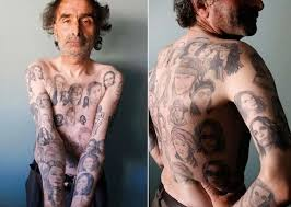 faces old people with tattoos