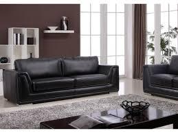 canapé cuir noir 3 places canapé 3 places en cuir reconstitué noir acheter ce
