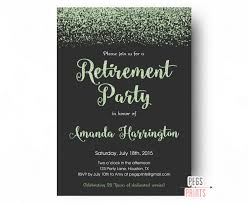 farewell gathering invitation mint glitter retirement party invitation retirement party