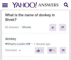 What Is A Meme Yahoo Answers - dopl3r com memes yahoo answers q what is the name of donkey