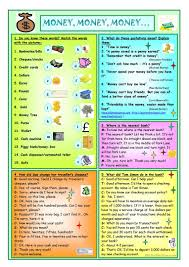 Esl Homonyms Worksheet 161 Free Esl Money Worksheets