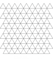 tessellation with triangle coloring page for kids art u0026 culture