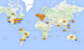 San Francisco On World Map by Prideforeveryone Join The Virtual Pride Parade