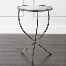 Metal Accent Table Accent Metal Side Tables Crate And Barrel