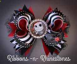 skellington ribbon nightmare before christmas skellington boutique style hair