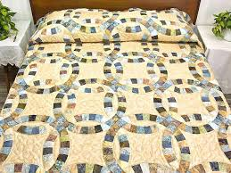 wedding ring quilt for sale handmade wedding ring quilt for sale wedding ring