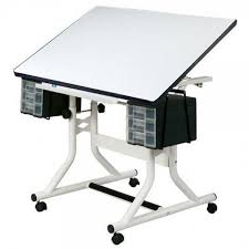 White Art Desk Craftmaster Drafting And Drawing Tables Jerry U0027s Artarama