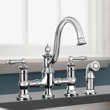waterhill two handle bridge moen faucets for elegant kitchen