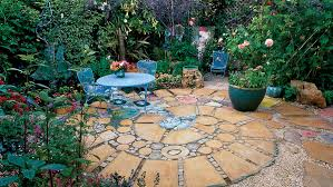 Simple Brick Patio With Circle Paver Kit Patio Designs And Ideas by 5 Round Patio Ideas Sunset