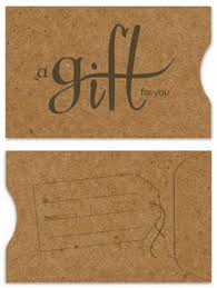 gift card sleeve real kraft grocery bag paper gift card sleeve envelope with