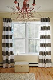Grey And White Striped Curtains Appealing Grey White Striped Curtains Decorating With Innovative