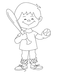 baseball boy coloring download free baseball boy coloring
