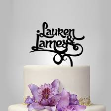 wedding cake name aliexpress buy 2017 real rushed personalized acrylic name of