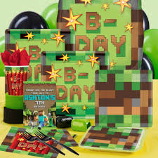 minecraft birthday party minecraft birthday party supplies party supplies canada open a party