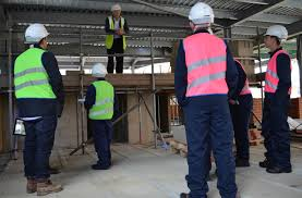 construction students tour new building site at harrow college