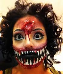 scary and freaky halloween party face paint ideas holiday fun