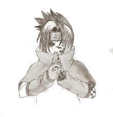 curse mark sasuke pencil sketch by guineapiggin on deviantart