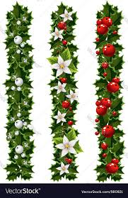 where to buy mistletoe green christmas garlands of and mistletoe vector image
