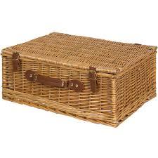 4 person wicker picnic basket w cutlery plates glasses
