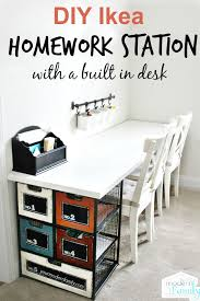 Built In Desk Diy Diy Ikea Homework Station With Yourmodernfamily
