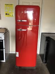 smeg fridge freezer fab30 red 3 months warranty free local