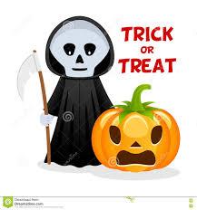happy halloween funny grim reaper u0026 pumpkin happy halloween stock vector image 77081465