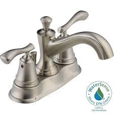 Delta Lavatory Faucets Delta Sentiment 4 In Centerset 2 Handle Bathroom Faucet In