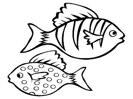 free printable fish coloring pages for kids with tropical itgod me