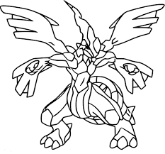 Coloriage Zekrom Pokemon à imprimer