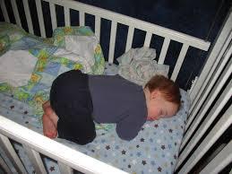 Baby Sleeping In A Crib by The White Crib Kristen Anne Glover