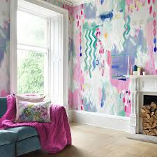 wallpapers interior design digitally printed modern designer wallpaper bluebellgray