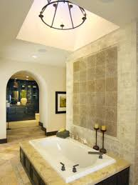 bathroom modest bathroom with spa style with drop in bathtub and