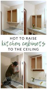 how to raise cabinets the floor genius diy raising kitchen cabinets and adding an open