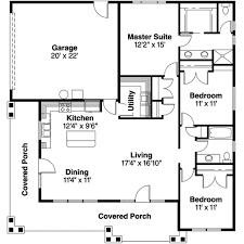 prairie style house plan 3 beds 2 00 baths 1456 sq ft plan 124 519