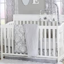 Damask Crib Bedding Sets Damsel Damask Crib Bedding Set Wayfair