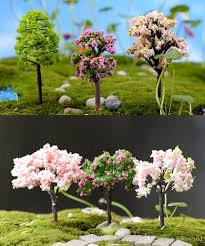 2018 artificial trees doll house tools sand model miniatures