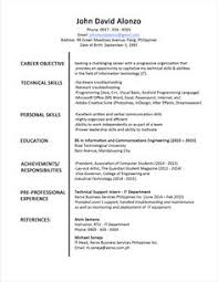 Cover Letter For Job Resume by Sample Resume Format For Fresh Graduates Two Page Format 1 1