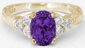 rings with amethyst images Amethyst and diamond ring with engraving gr 2127 jpg