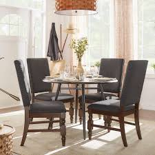 flatiron nailhead upholstered dining chairs set of 2 by inspire