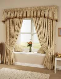 Interior Decoration Home Living Room Formal Home Interior Decoration With Brown Curtain 1 2
