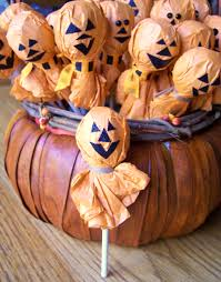 jack o lantern lollipops for halloween parties