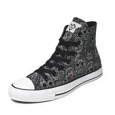 Comfortable Canvas Sneakers Skull Black Canvas Shoes High Top Comfortable Casual Mens Shoes
