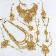 bridal jewelry necklace sets images Bridal jewelery heavy dulhan necklace set collection on ebay jpg