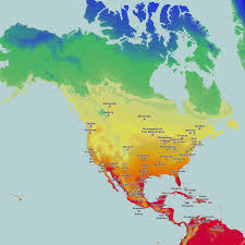 Europe Temperature Map Thematic Maps And City Maps Temperature