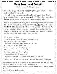 free main idea worksheets worksheets