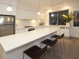 modern l shaped kitchen with island mirror splashback cool brings more light into room but is it