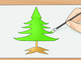 how to draw a pine tree drawing pencil