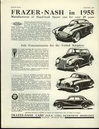 vintage porsche ad frazer nash in 1955 auto union dkw porsche bmw type 502 ad 1954 1955